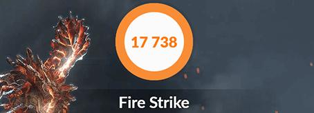 ガレリアZVのfirestrike測定結果