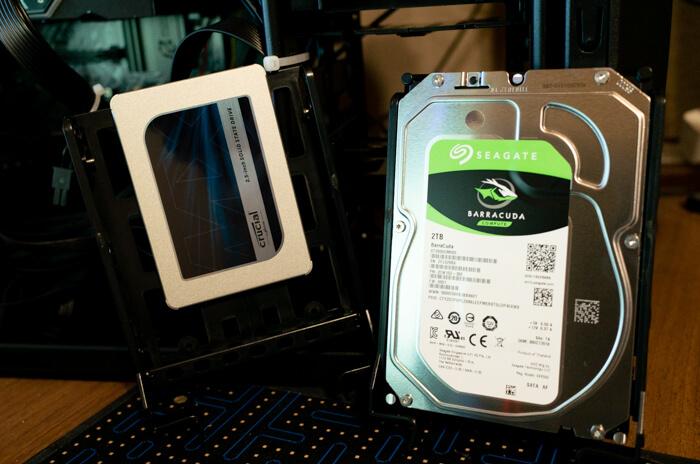 ガレリアZVのストレージ。SSDは