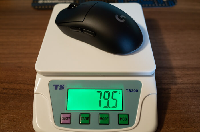 PRO Wirelessの重さ