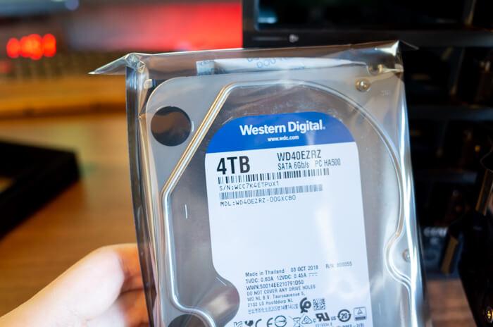 WD Blueの4TBHDDを購入しました