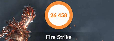 ガレリアZZ 9900KのFire Strikeベンチマーク結果