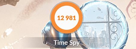 ガレリアZZ 9900KのTime Spyベンチマーク結果